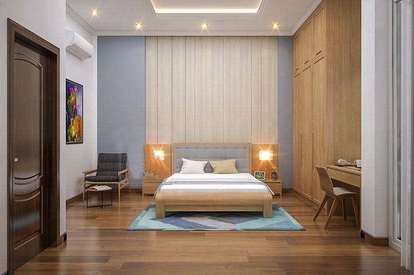 nhà ống tân cổ điển Pháp phòng ngủ