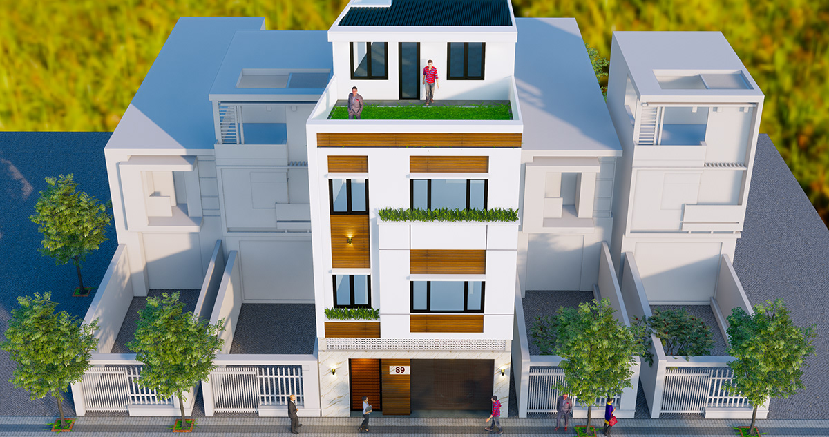 nhà phố 3 tầng