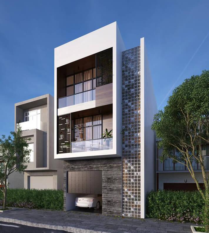 mẫu thiết kế nhà phố 3 tầng 6x12m
