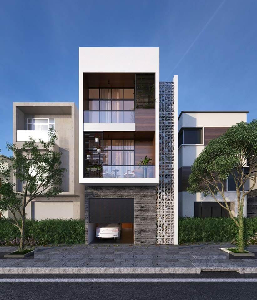 mẫu thiết kế nhà phố 3 tầng 6x12m 2
