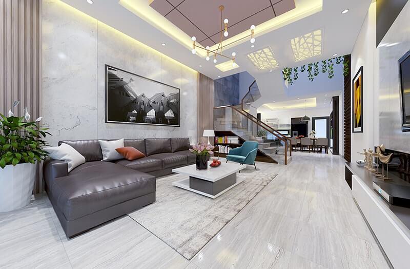 mẫu thiết kế nhà phố 3 tầng 6x12m 9