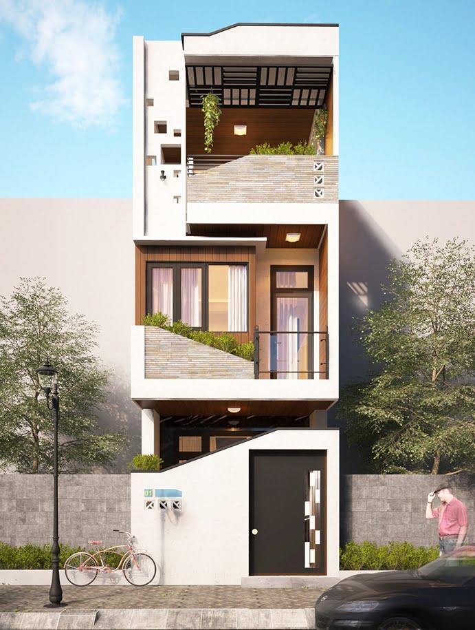 nhà phố 3 tầng mặt tiền 6m