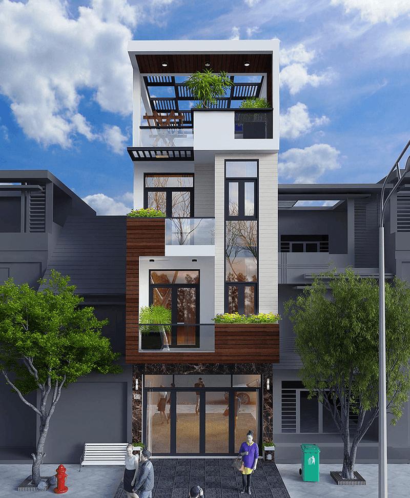 nhà phố 4 tầng 4x12m