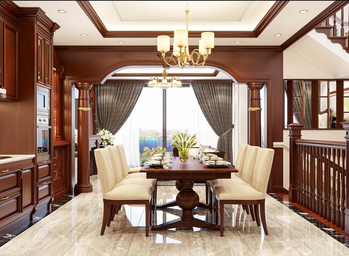 nhà phố 4 tầng hiện đại 4x10m phòng ăn