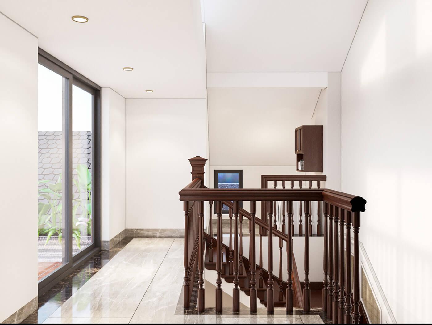 nhà phố 4 tầng hiện đại 4x10m cầu thang