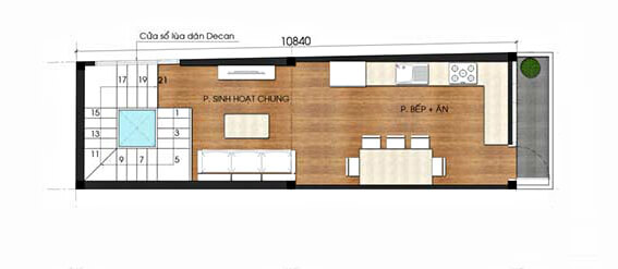 nhà phố 4 tầng hiện đại 4x10m
