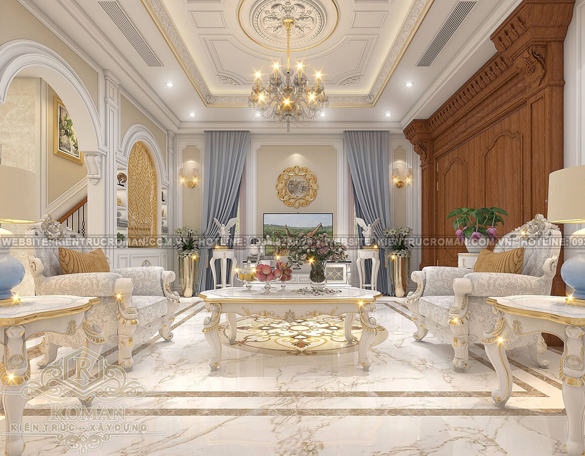 nhà phố đẹp 3 tầng phòng khách