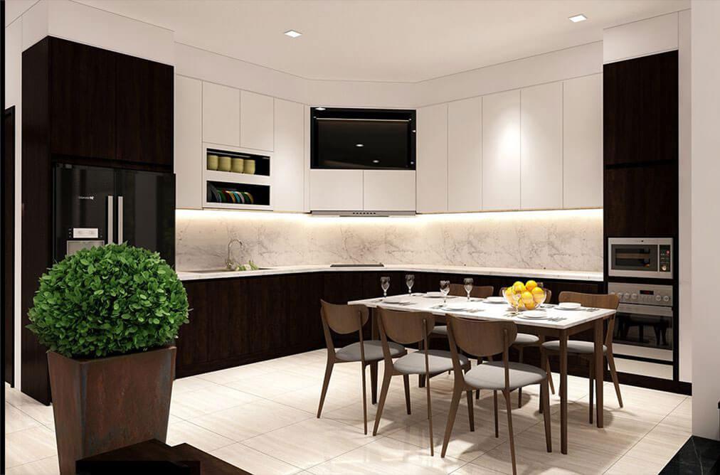 nhà phố hiện đại 6x18m phòng bếp