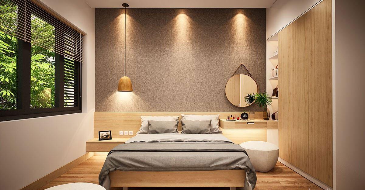 nhà phố hiện đại 6x18m phòng ngủ