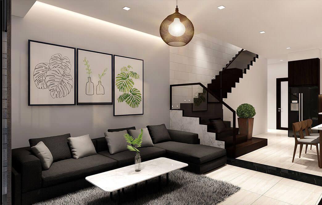 nhà phố hiện đại 6x18m phòng khách