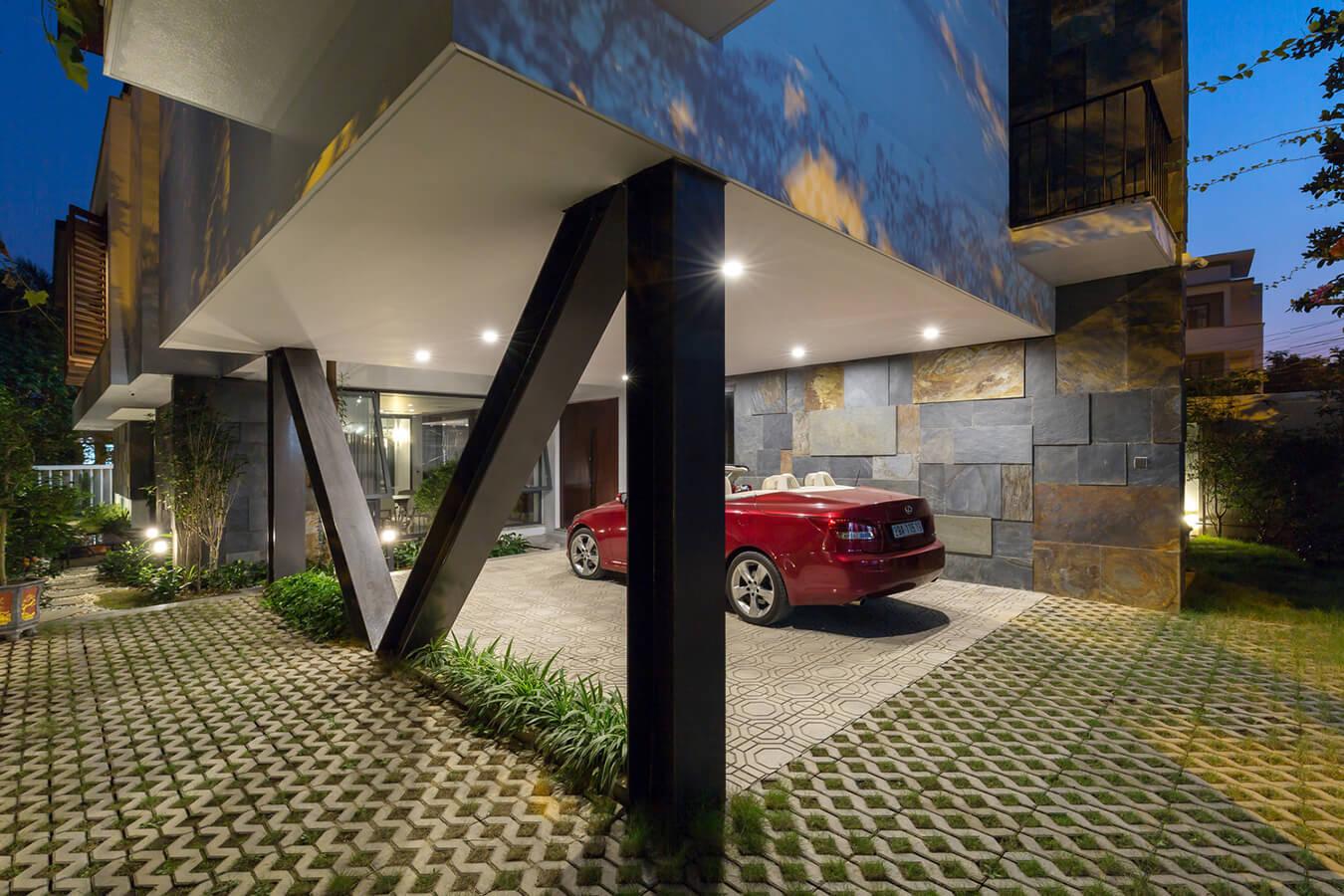 nhà phố hiện đại mặt tiền 12m