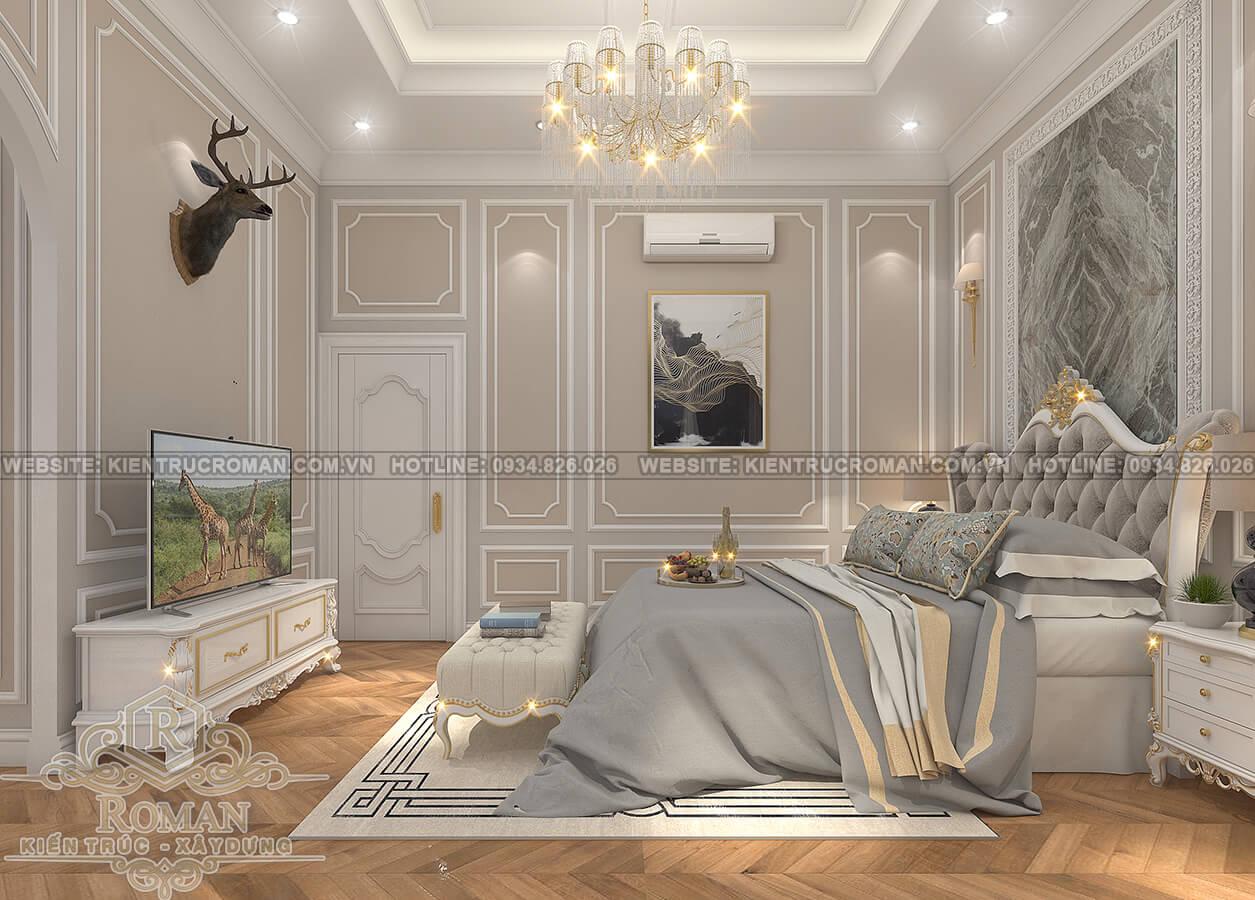 nhà phố tân cổ điển 2 tầng phòng ngủ master