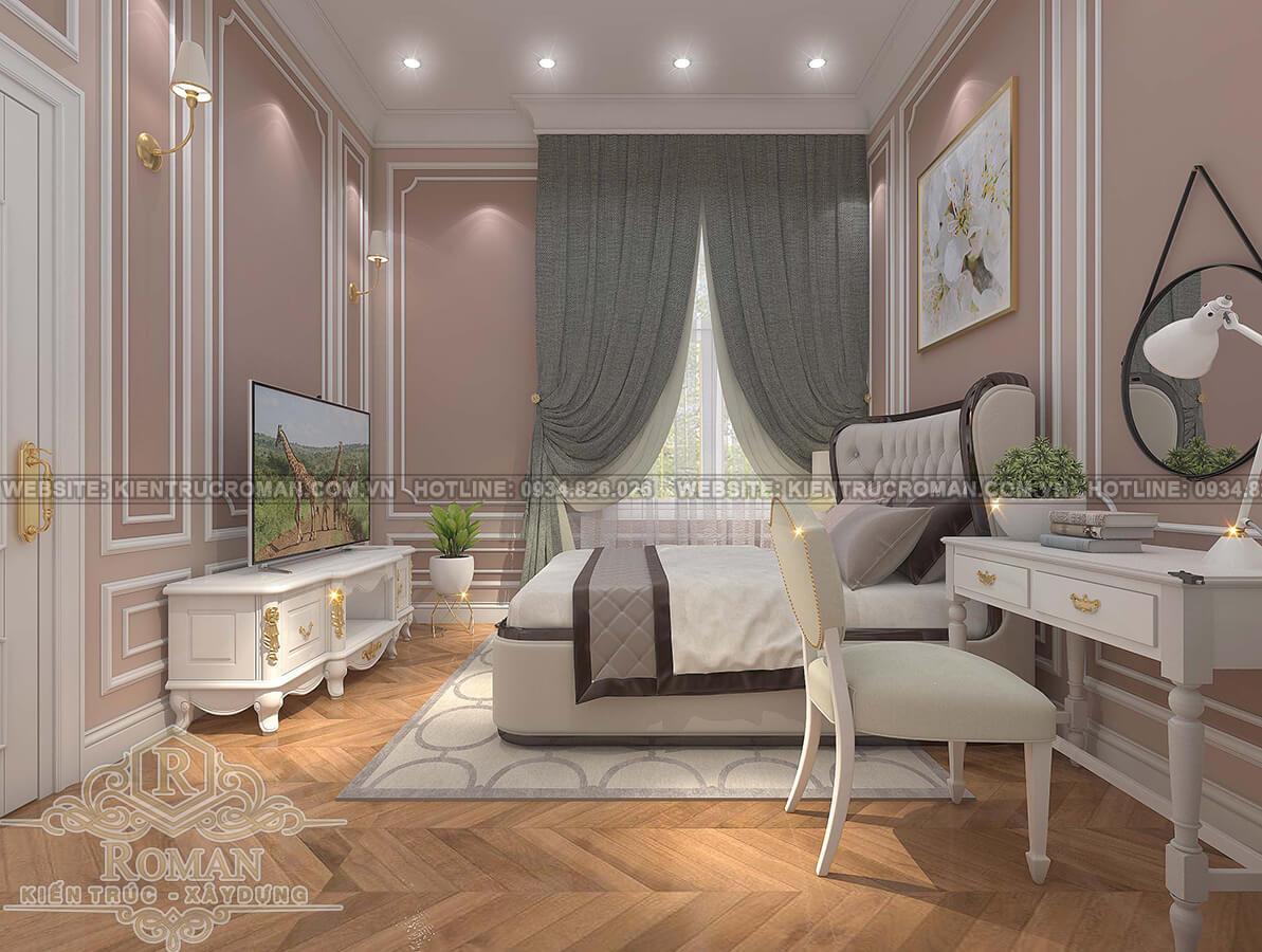 nhà phố tân cổ điển 2 tầng phòng ngủ con gái