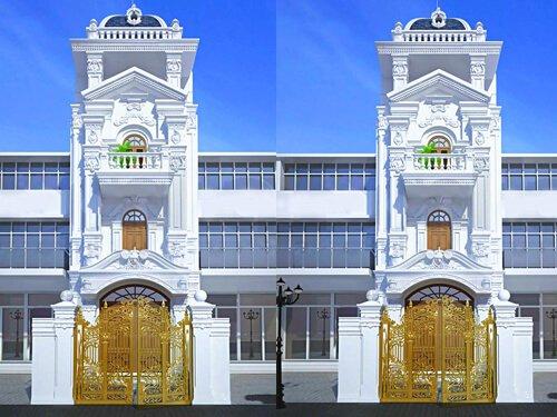 nhà phố tân cổ điển 4 tầng