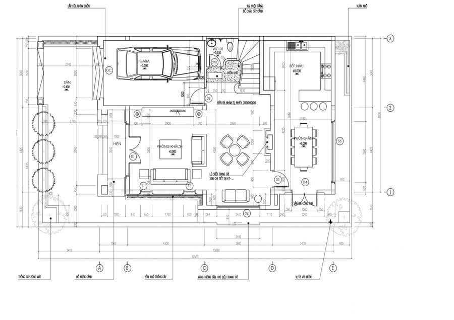 nhà phố tân cổ điển 6x12m