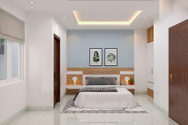 nhà tân cổ điển 4 tầng phòng ngủ