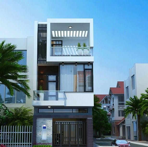 Những mẫu nhà đẹp 2 tầng 1 tum không thể bỏ qua năm 2018