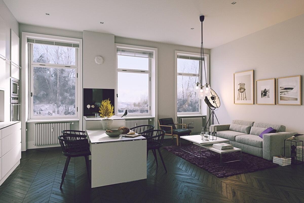 nội thất phòng khách đẹp hiện đại 11