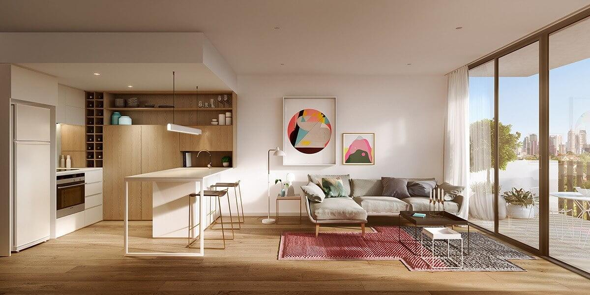 phòng bếp đẹp đơn giản 15