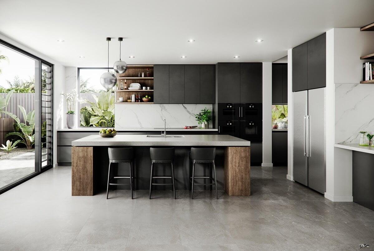 phòng bếp đẹp đơn giản 16