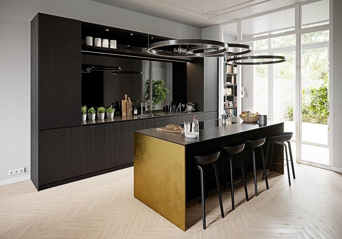 phòng bếp đẹp đơn giản 2