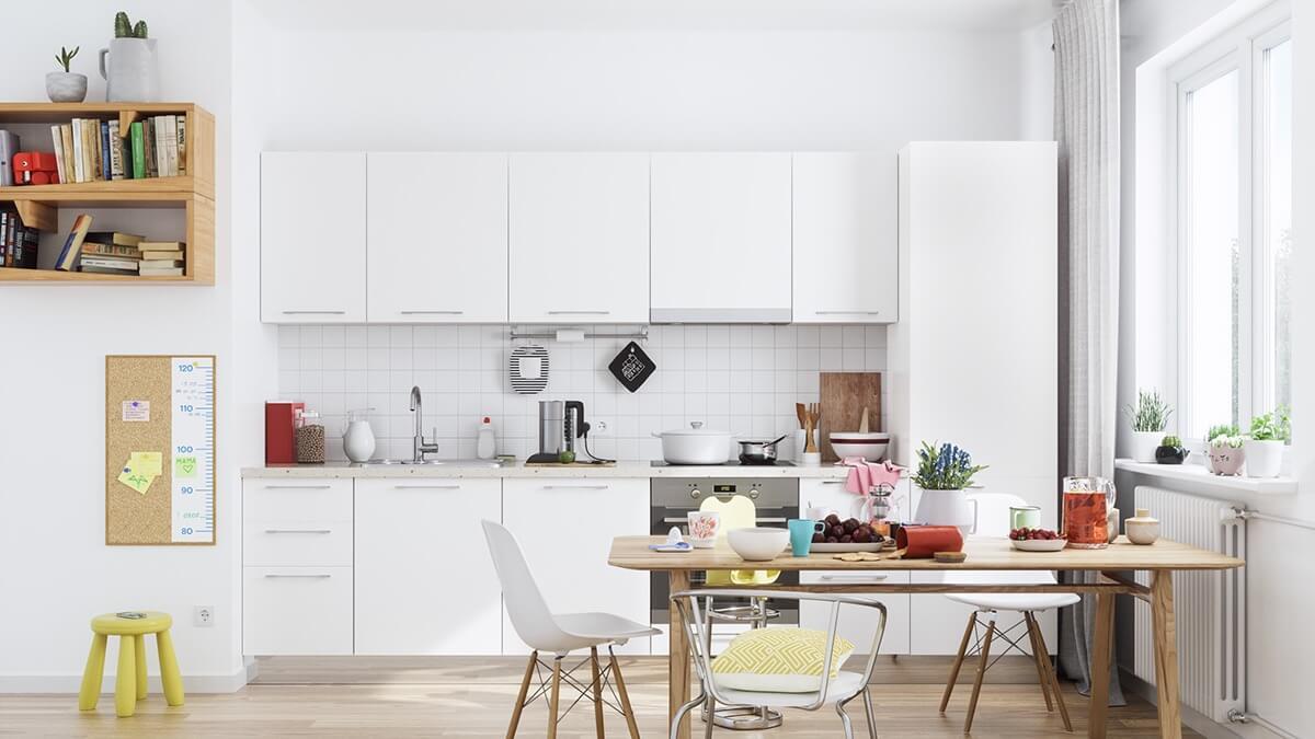 phòng bếp đẹp đơn giản 8