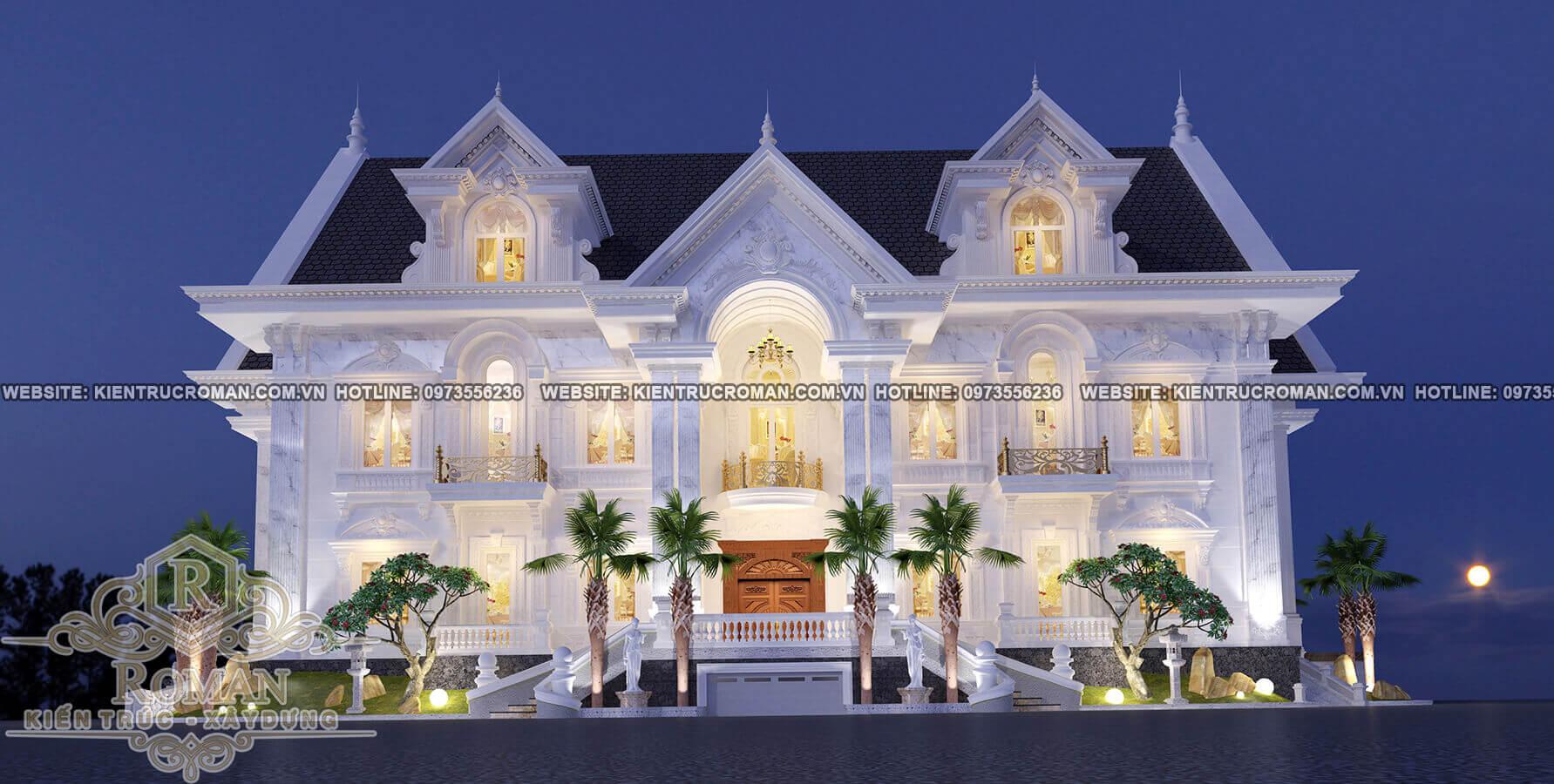 phong cách thiết kế nhà biệt thự đẹp cổ điển