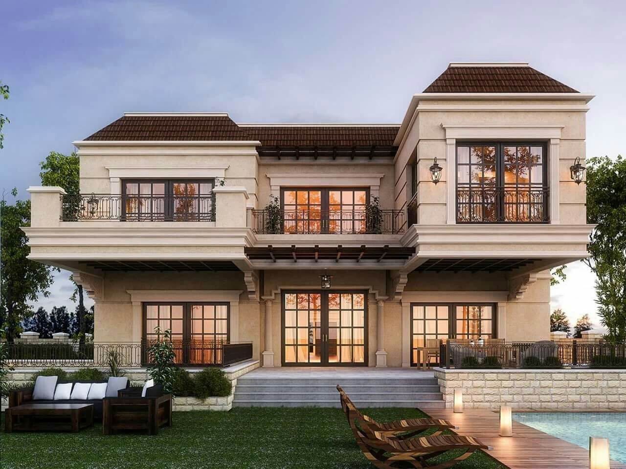 phong cách thiết kế nhà biệt thự đẹp tân cổ điển