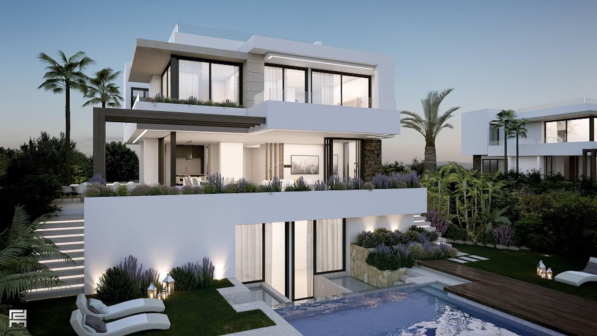 phong cách thiết kế nhà biệt thự đẹp không gian xanh
