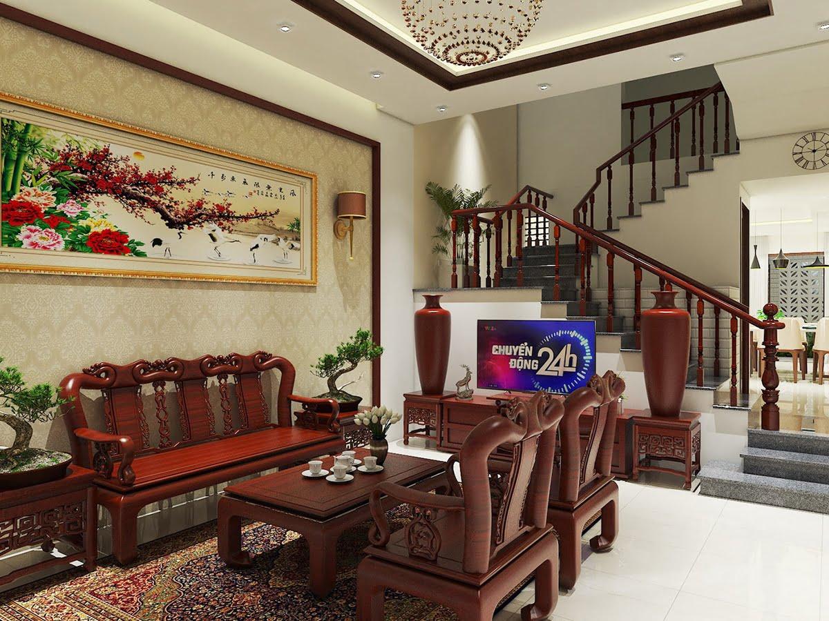 phòng khách bằng gỗ cao cấp