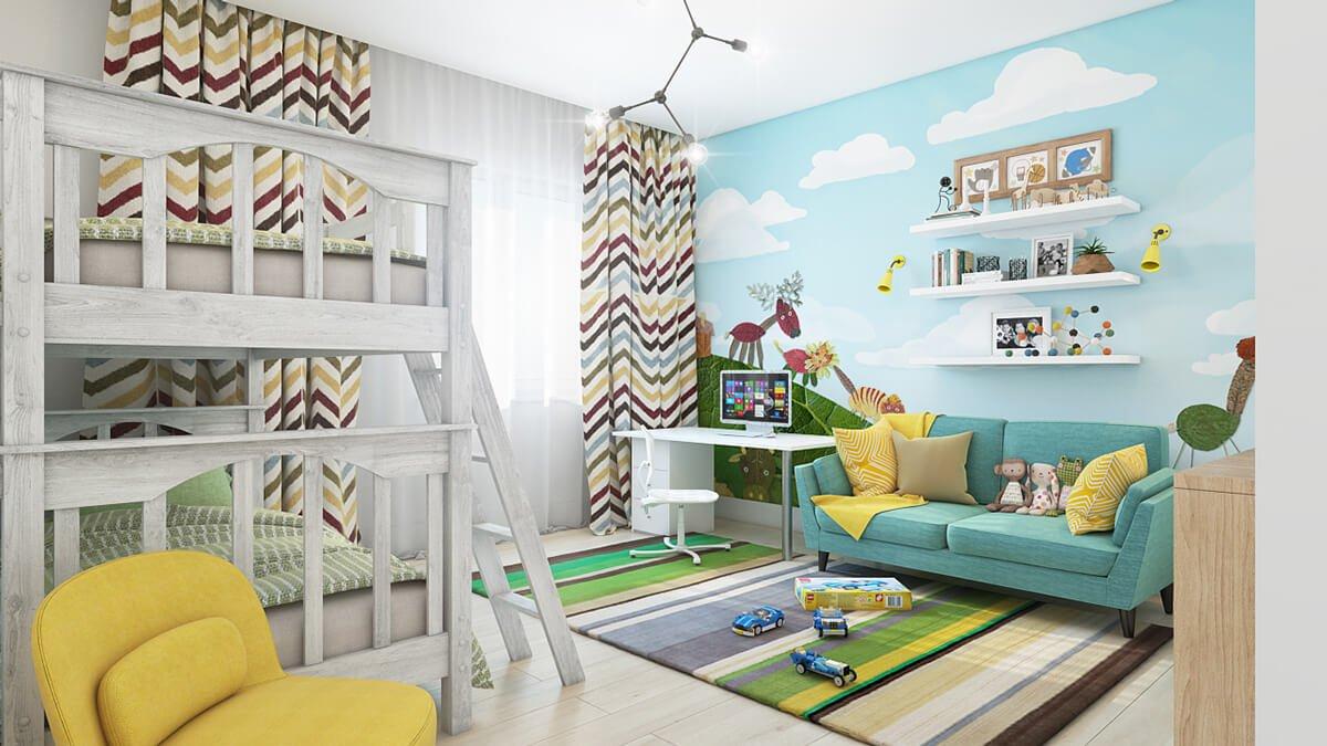 phòng ngủ dành cho trẻ em dễ thương