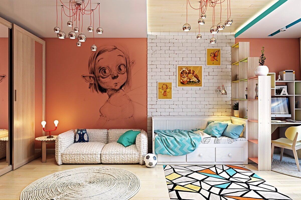 phòng ngủ dành cho trẻ em cá tính
