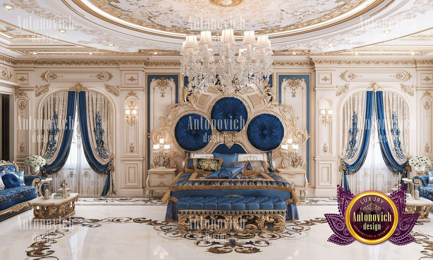 phòng ngủ hoàng gia đẹp phong cách cổ điển
