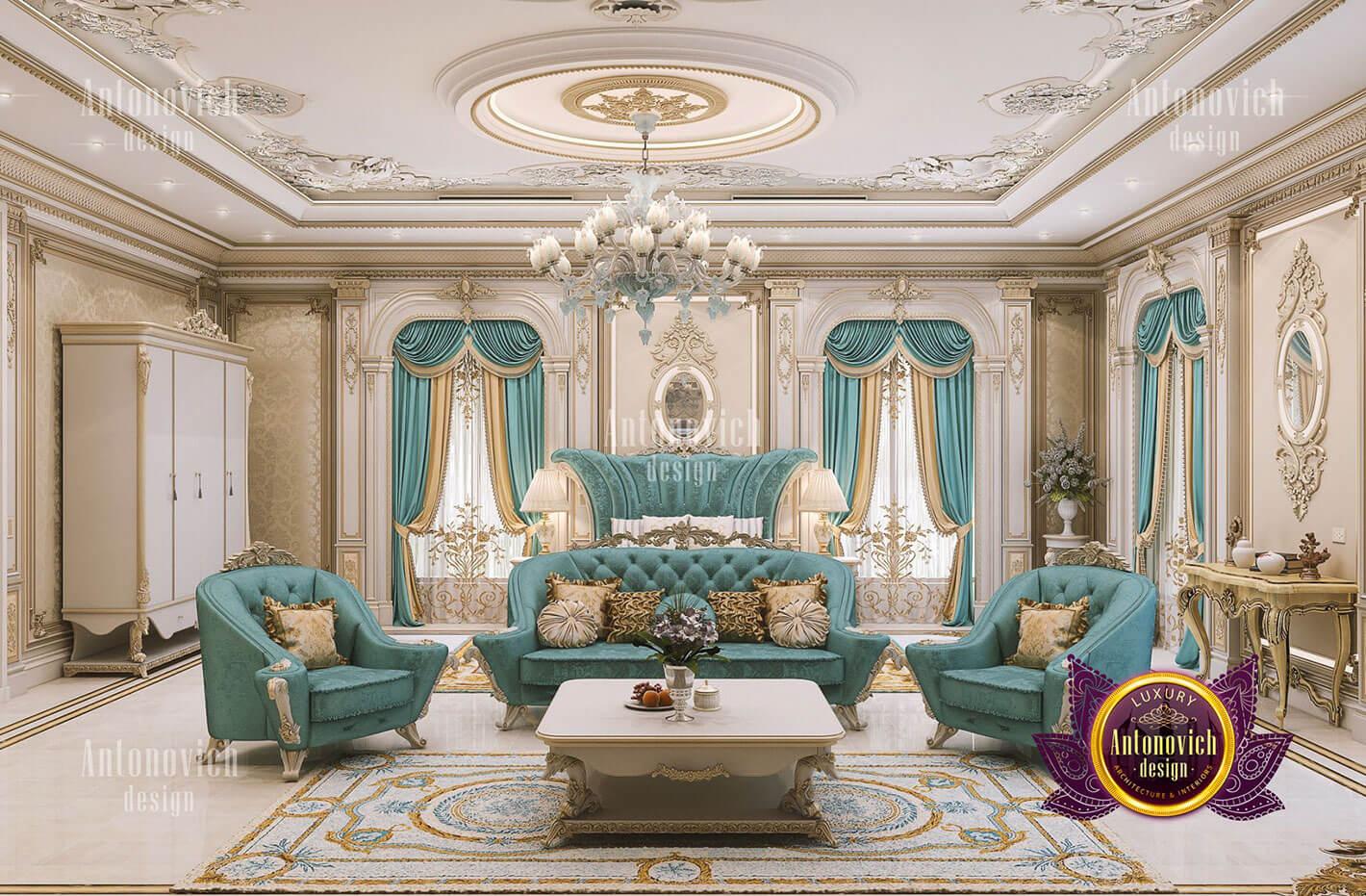 phòng ngủ hoàng gia đẹp cổ điển
