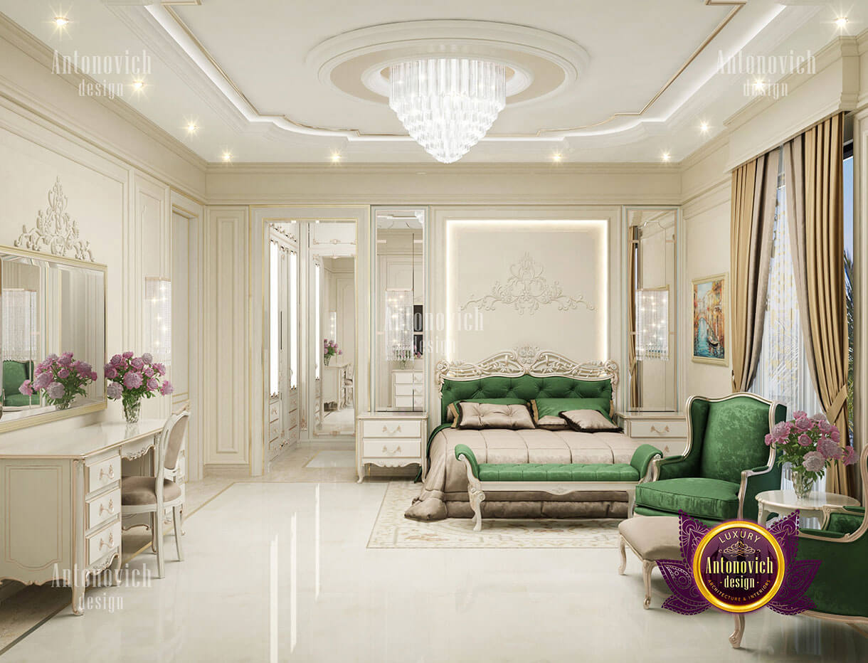 phòng ngủ hoàng gia đẹp tân cổ điển