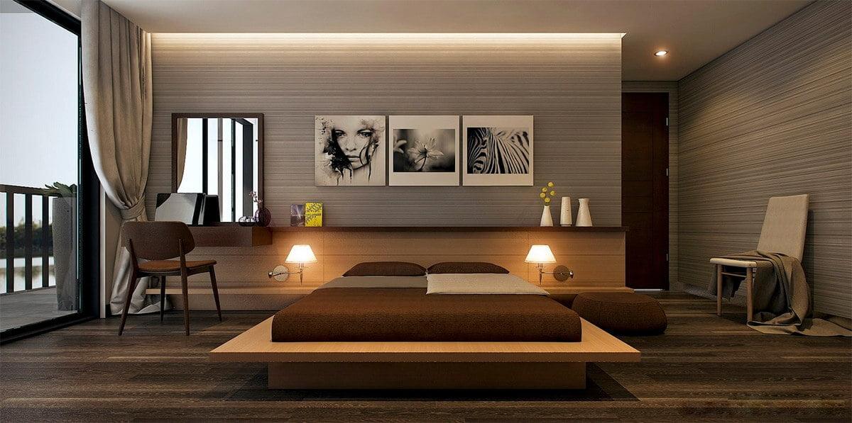 phòng ngủ master hiện đại biệt thự