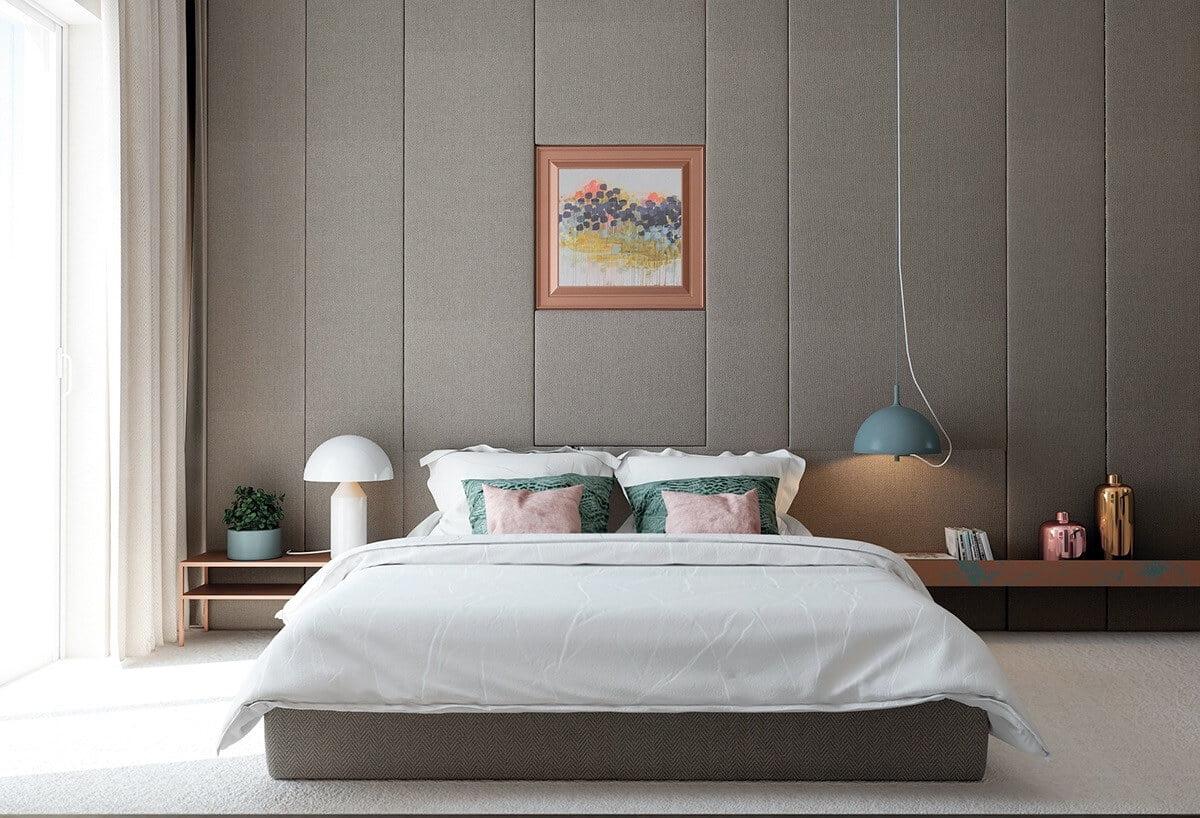 phòng ngủ master hiện đại nhà phố
