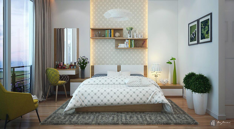 phòng ngủ master nhỏ hiện đại