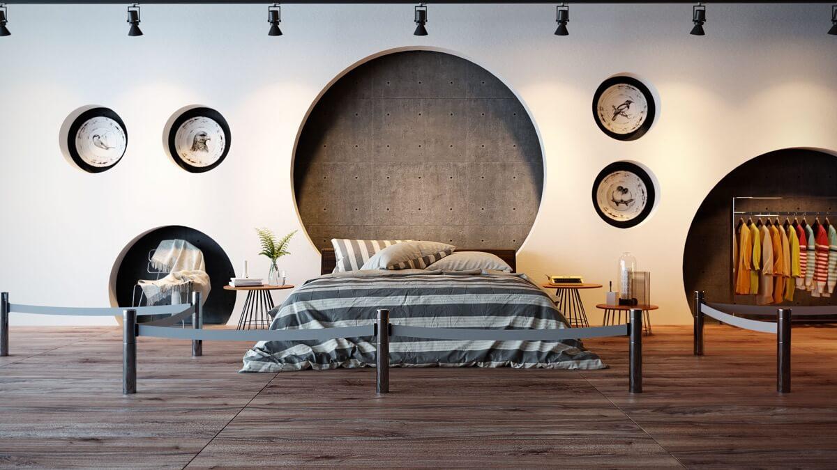 phòng ngủ master hiện đại dành cho biệt thự