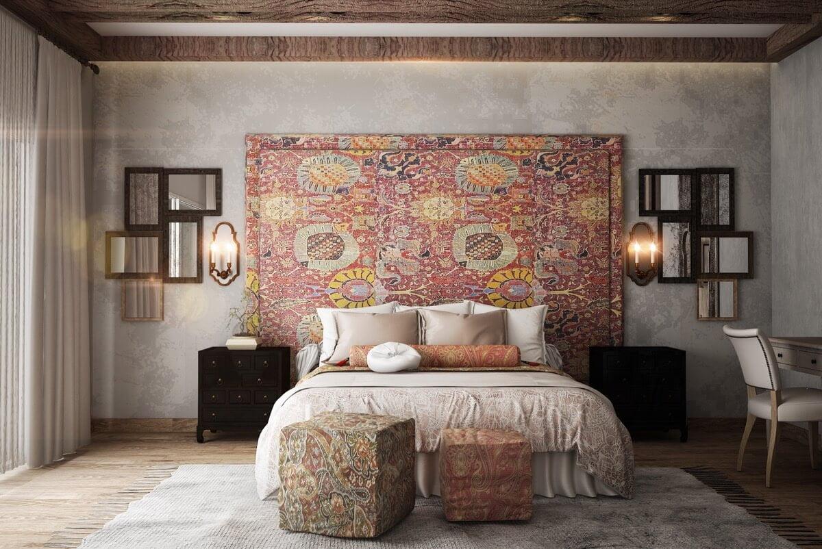 phòng ngủ master biệt thự hiện đại