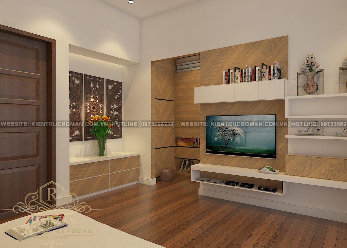 phòng ngủ mẫu nhà tân cổ điển 3 tầng đẹp thiết kế sang trọng tại Thủ Đức 1