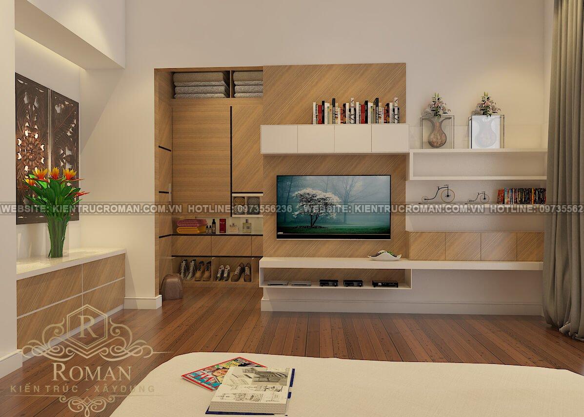 phòng ngủ mẫu nhà tân cổ điển 3 tầng đẹp thiết kế sang trọng tại Thủ Đức 3