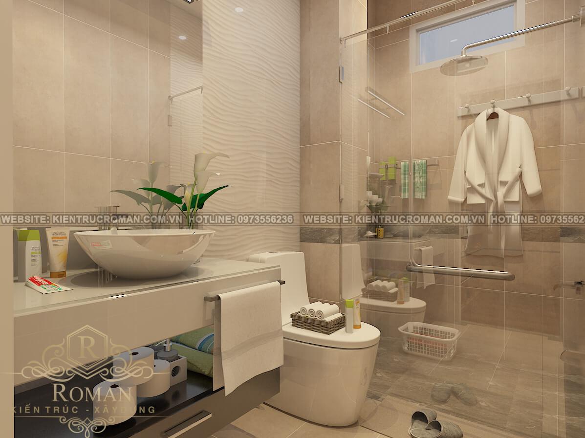 phòng tắm mẫu nhà tân cổ điển 3 tầng đẹp thiết kế sang trọng tại Thủ Đức