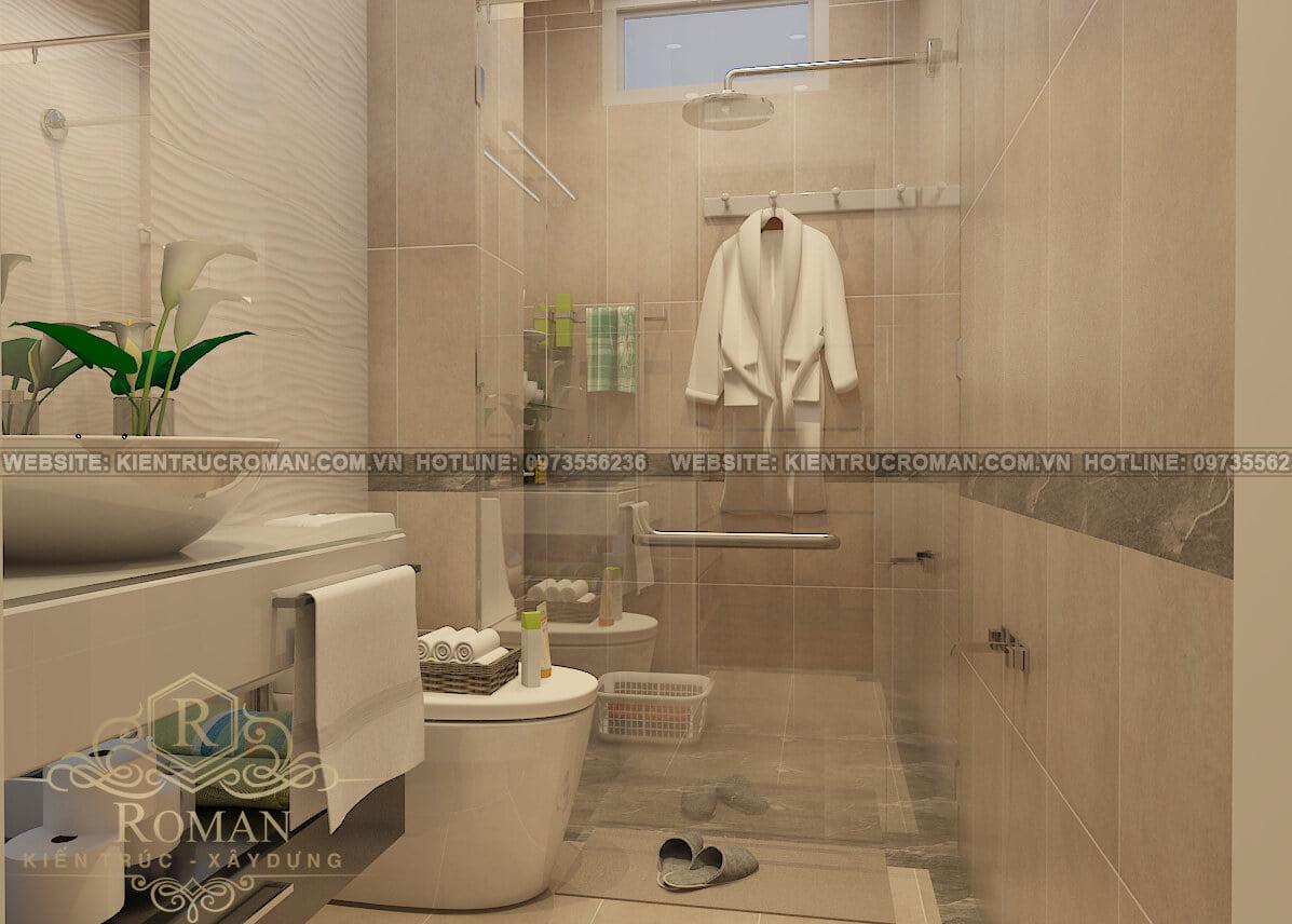 phòng tắm mẫu nhà tân cổ điển 3 tầng đẹp thiết kế sang trọng tại Thủ Đức 3