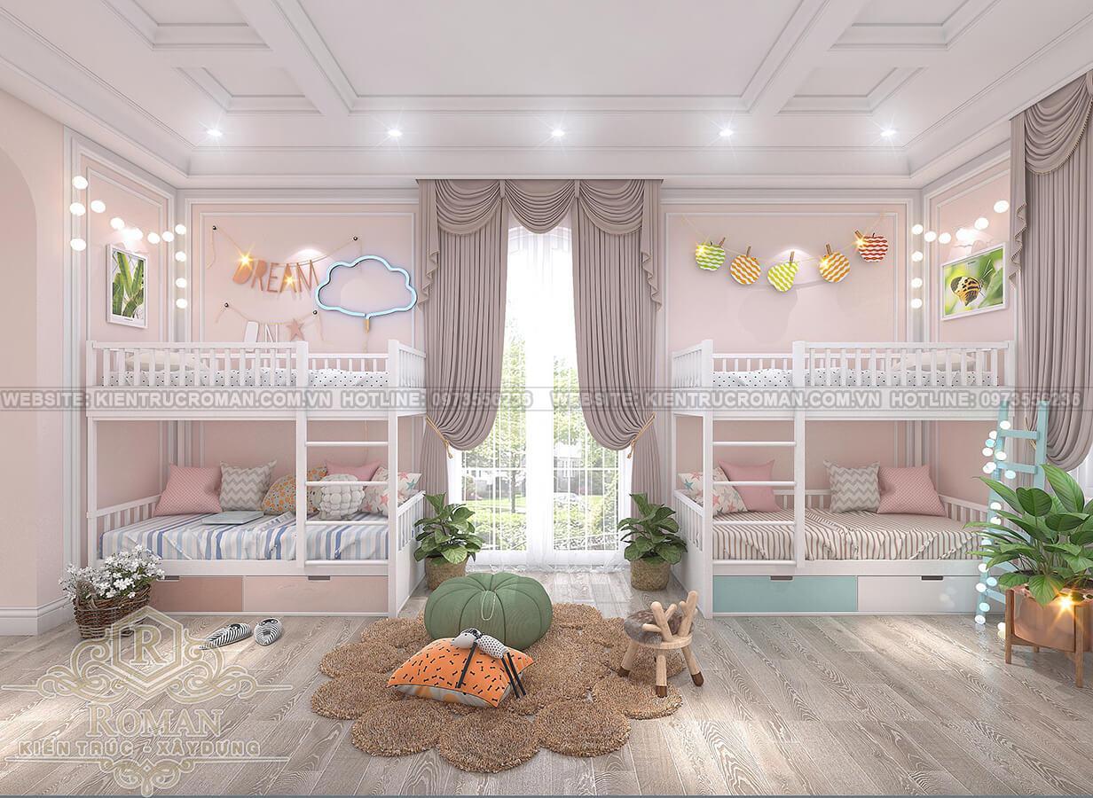 phòng ngủ trẻ em tân cổ điển