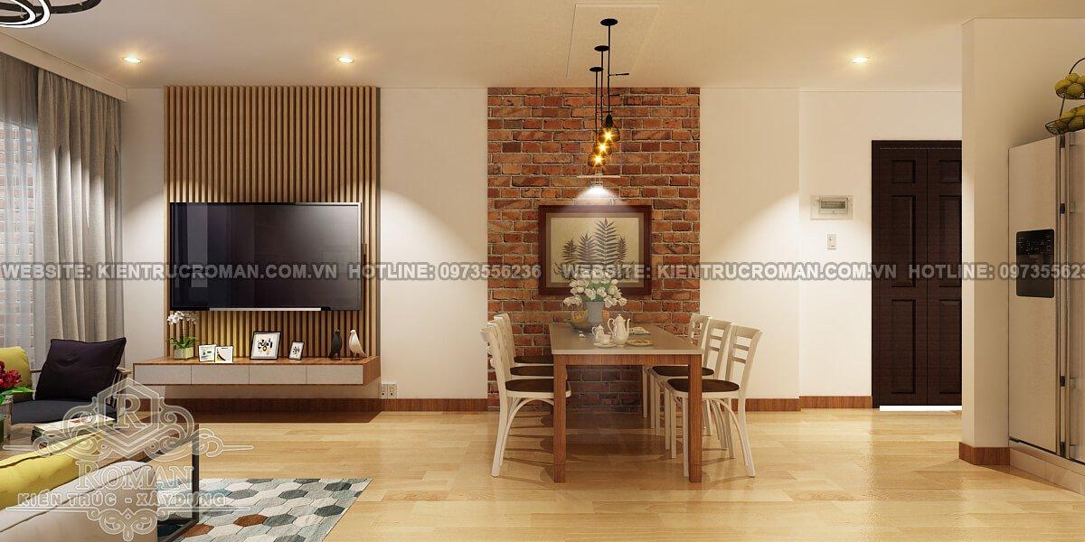 phòng ăn thiết kế căn hộ diện tích nhỏ