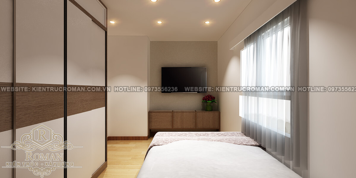 phòng ngủ thiết kế căn hộ diện tích nhỏ