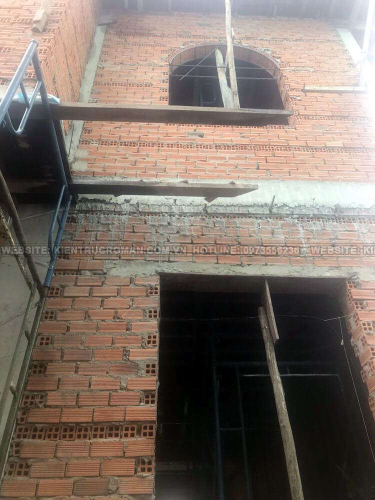 thi công biệt thự 2 tầng tân cổ điển 13