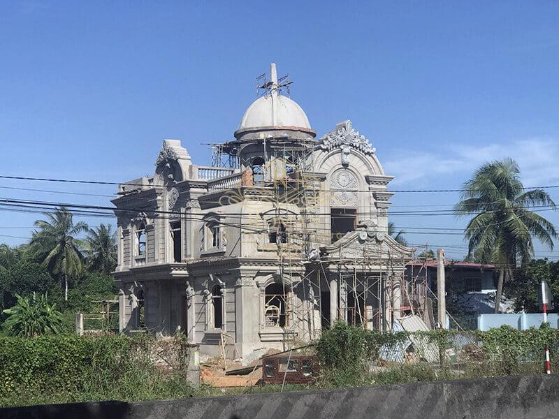 Thi công biệt thự kiến trúc cổ điển tại Tiền Giang