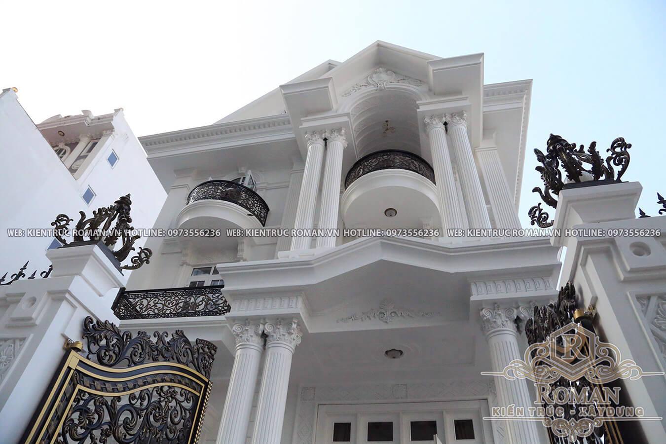 thi công biệt thự kiến trúc tân cổ điển 8